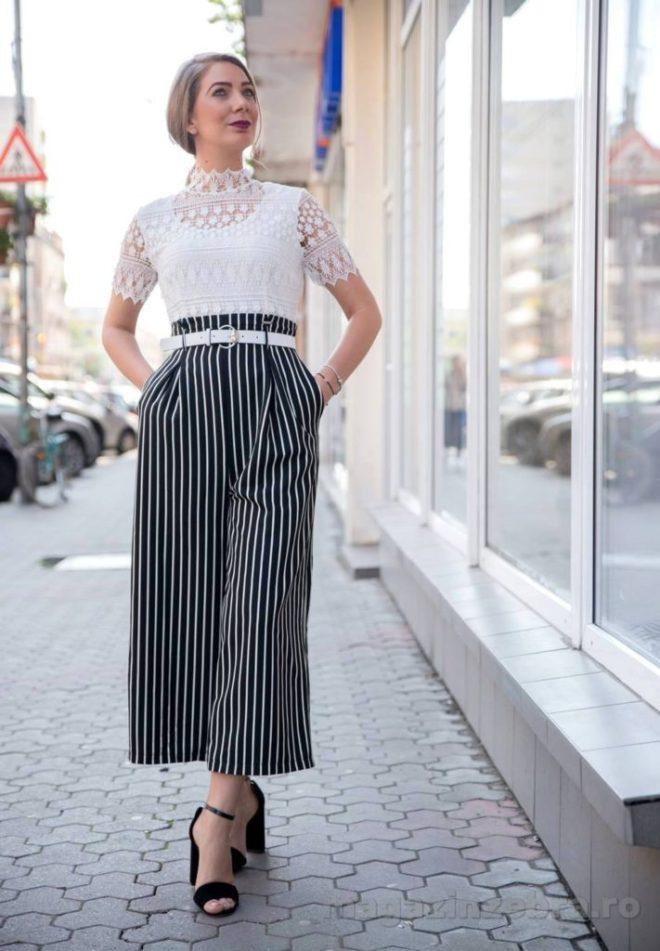 Salopeta Eleganta Cu Pantalon Larg