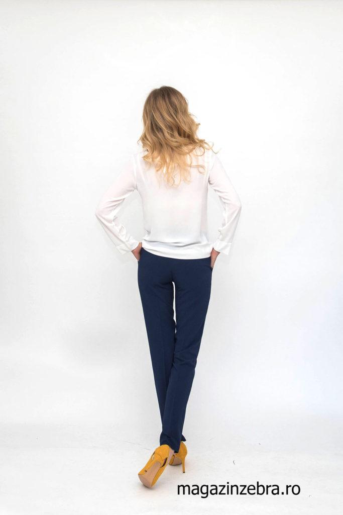 Pantaloni Office La Donna Bleumarin Spate