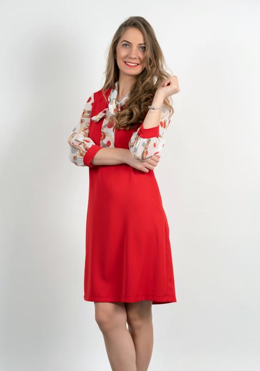 Rochie Casual Rosie Cu Maneci Colorate