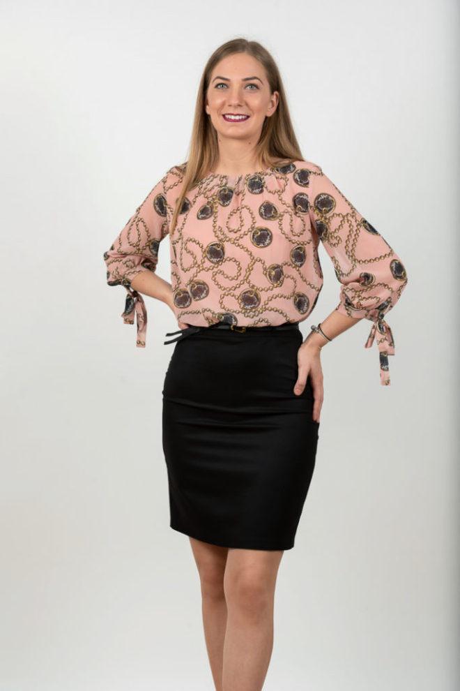 Rochie Scurta Eleganta Neagra Cu Voal Colorat