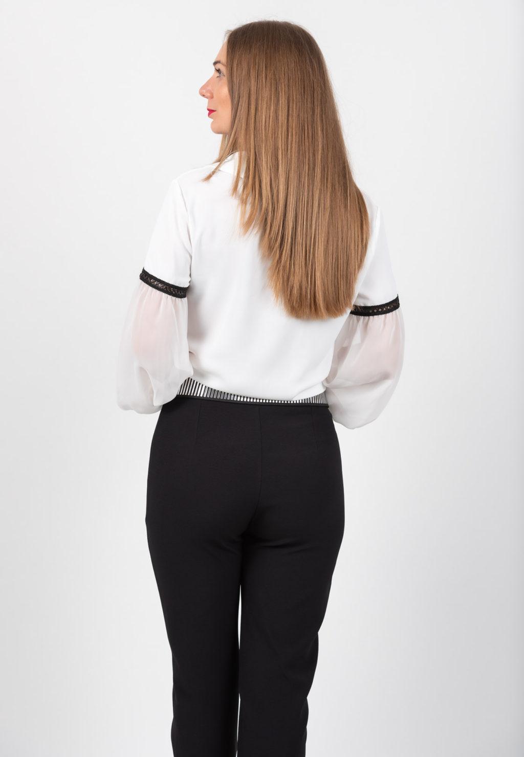 Pantalon Elegant Negru Spate
