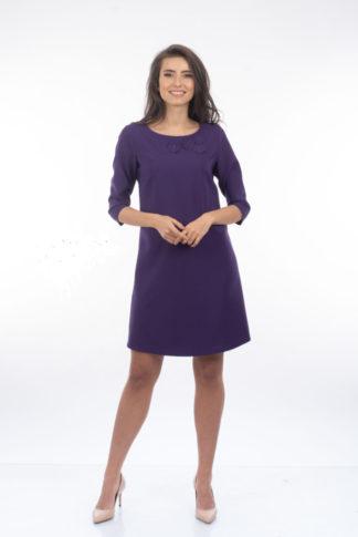Rochie La Donna In A Cu Aplicatii Violet
