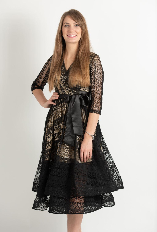 Rochie Eleganta Din Dantela Neagra In Clos